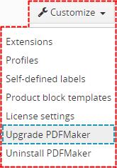 Upgrade of the PDF Maker