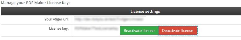 Deactivate license of PDF Maker