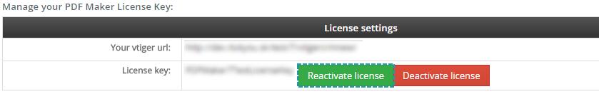 Reactivate license of PDF Maker