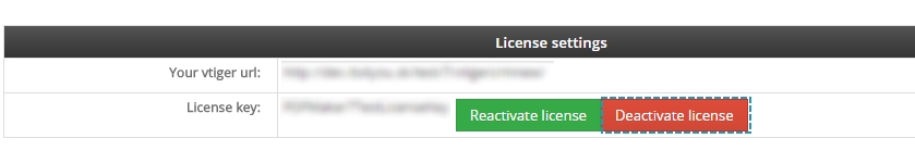 Deactivate license of MultiCompany
