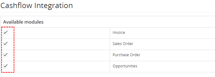 Integration Cashflow