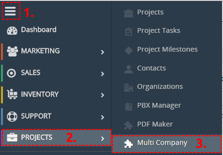How to find Multi Company