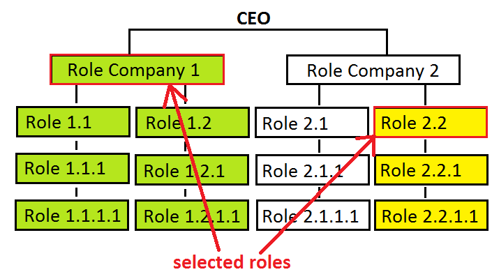 Role selection for custom numbering