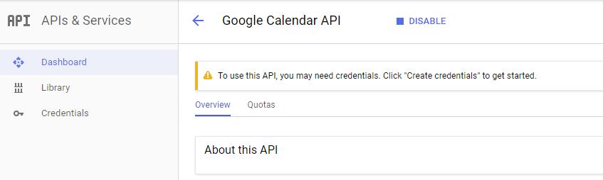API Google Project - Google Calendar Vtiger 6 Sync