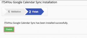 Finish validation - Google Calendar Vtiger 6 Sync