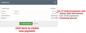 Cashflow payment block