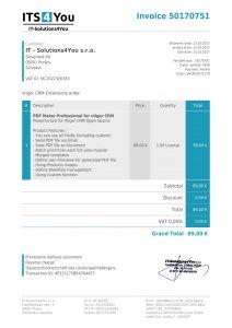 PDF template