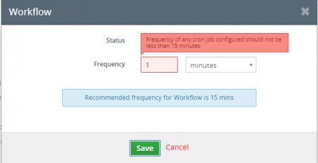 How to allow vtiger workflow more often