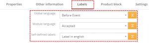 Labels tab