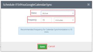 How to automate Google step 2 - Google Calendar Vtiger 7 Sync