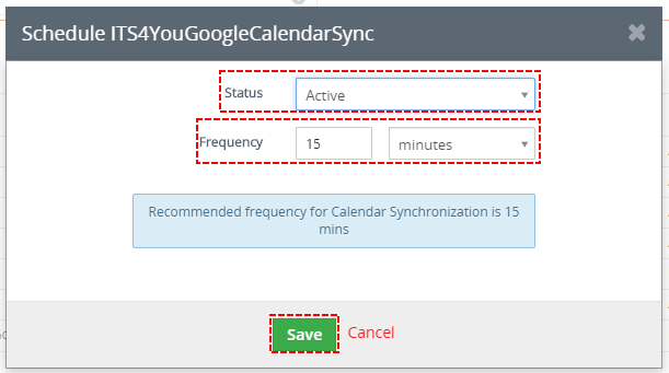 How to automate Google step 2 - Google Calendar Vtiger 7 Sync