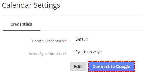 How to connect to Google Account - Google Calendar Vtiger 7 Sync