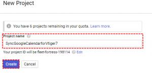 Fill Google Project Name - Google Calendar Vtiger 7 Sync
