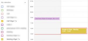Saved record within Google - Google Calendar Vtiger 7 Sync