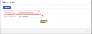 How to connect to Google Account - Google Calendar Vtiger 6 Sync