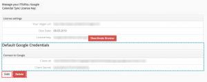 Saved default ID of Google Project - Google Calendar Vtiger 6 Sync