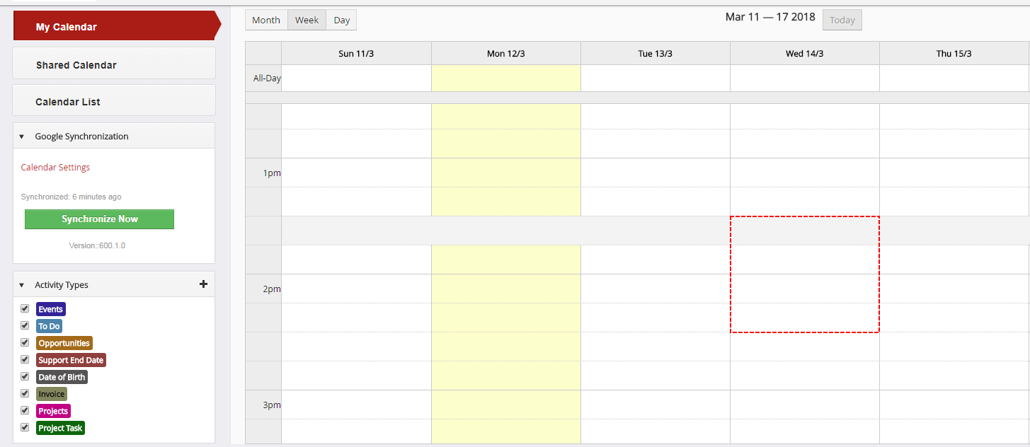 Record from Google is not displayed - Google Calendar Vtiger 6 Sync