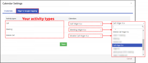 How to map Activity types to Calendar - Google Calendar Vtiger 6 Sync
