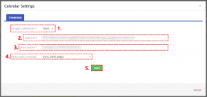 Saved own ID of Google Project - Google Calendar Vtiger 6 Sync