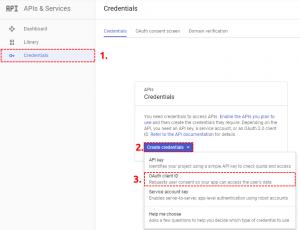 OAuth Credentials Google Project – Google Calendar Vtiger 7 Sync