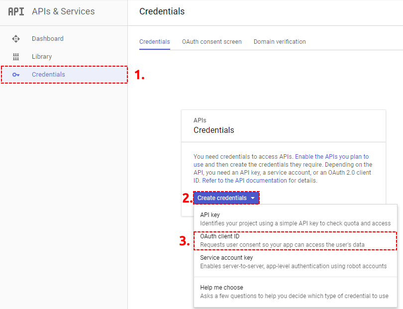 OAuth Credentials Google Project – Google Calendar Vtiger 7 Sync