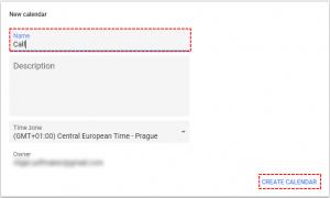 How to create new Google Calendar