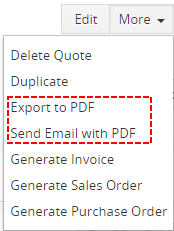 How to hide standard vtiger Export to PDF or Send Email with PDF
