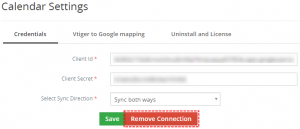 How to remove Google connection