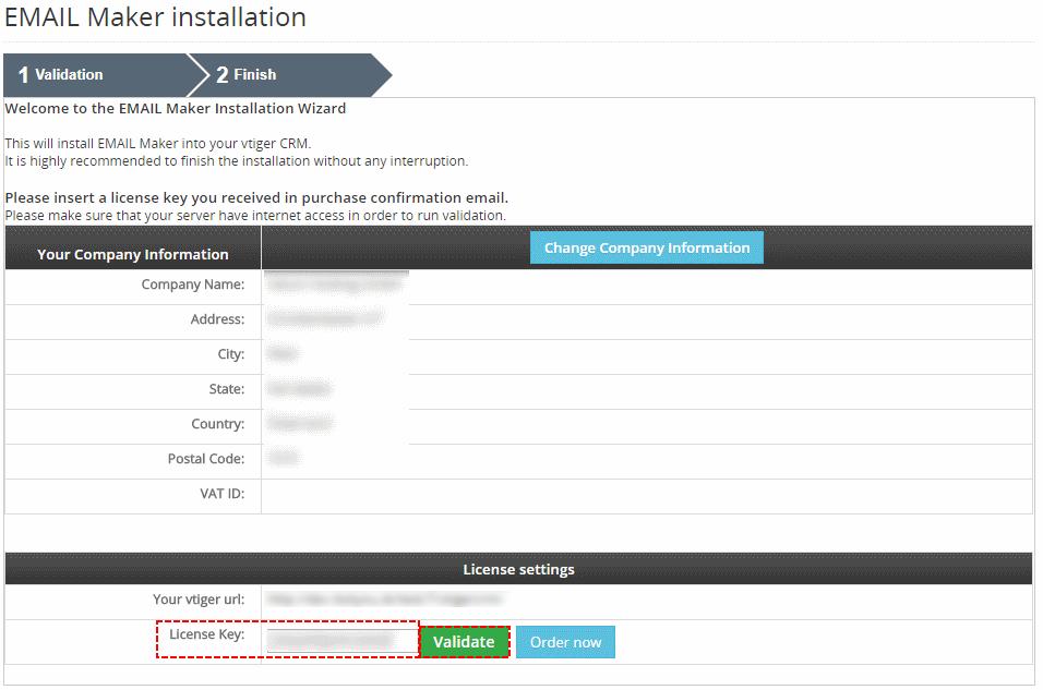 Validation EMAIL Maker for vtiger 7