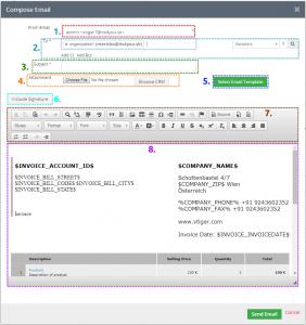 Compose E-Mail window