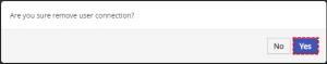 Confirm removing of User - Google Calendar Vtiger 6 Sync
