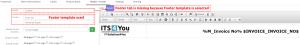 Footer template used – PDF Maker Vtiger 7