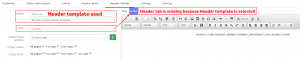 Header template used – PDF Maker Vtiger 7