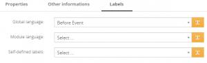 Labels tab – PDF Maker Vtiger 7