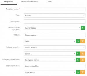 Properties tab – PDF Maker Vtiger 7