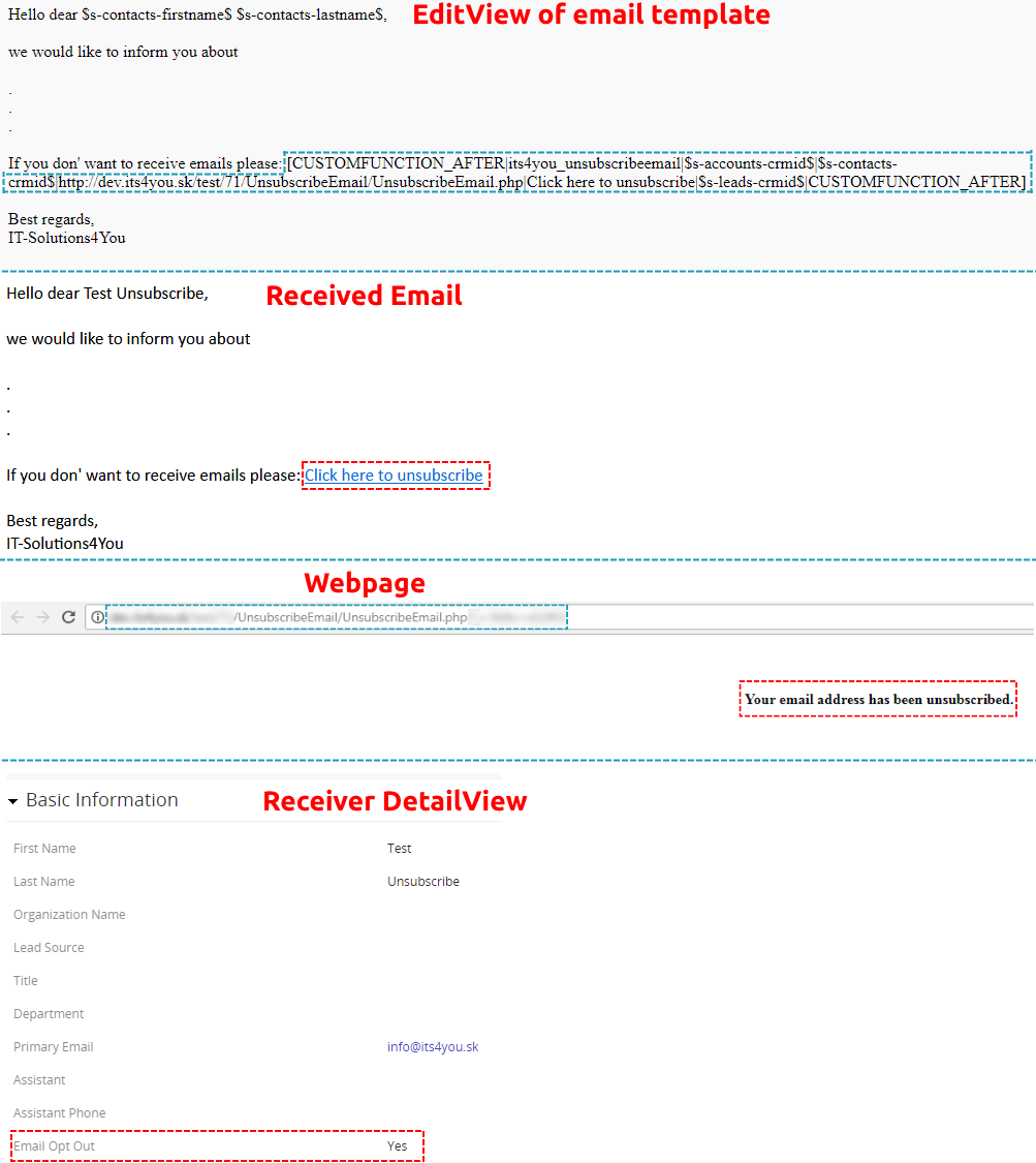 Process of unsubscribing from emails – Email Maker Vtiger 7