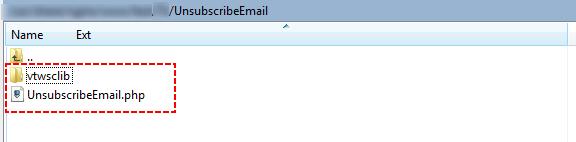 Unzip UnsubscribeEmail.zip – Email Maker Vtiger 7