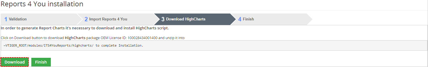 Download HighCharts - Reports 4 You Vtiger 7