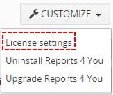 License - Reports 4 You Vtiger 7