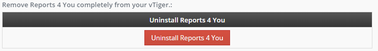 Uninstall - Reports 4 You Vtiger 7