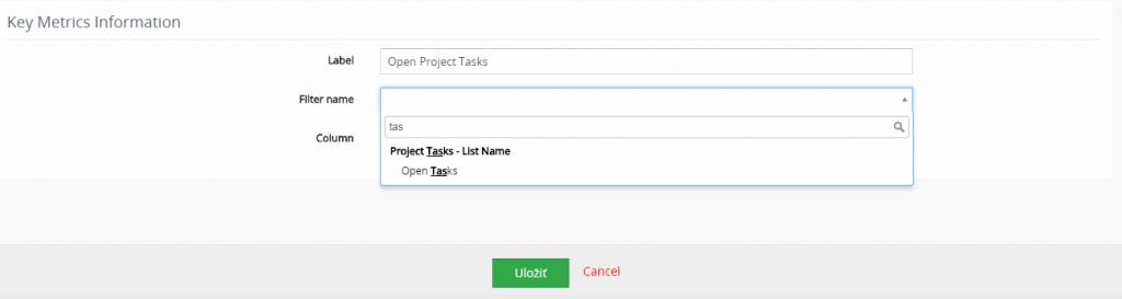 How to create new Key Metrics widget