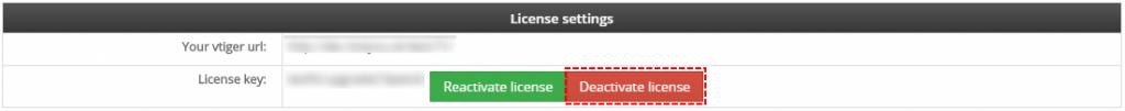 Deactivate license - Credit Notes 4 You Vtiger 7