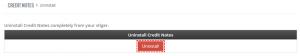 Uninstall - Credit Notes 4 You Vtiger 7