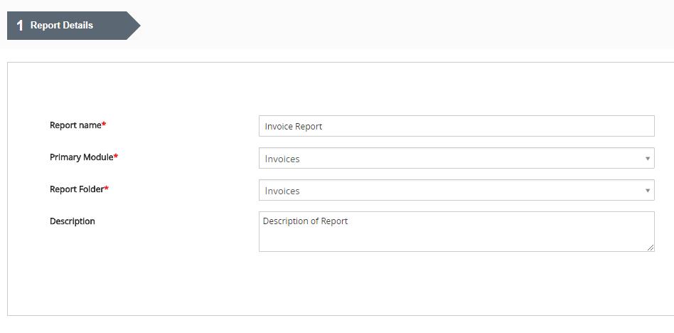 Report Details - Reports 4 You Vtiger 7