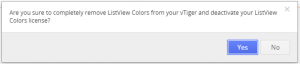 Uninstall - ListView Colors 4 You Vtiger 7