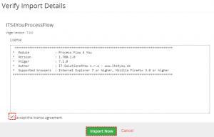 Installation step 3 - Process Flow 4 You Vtiger 7