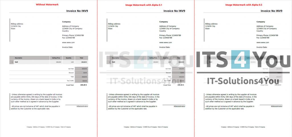 Image Watermark – PDF Maker Vtiger 7