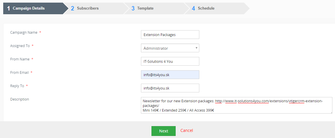 Email Marketing for Vtiger CRM