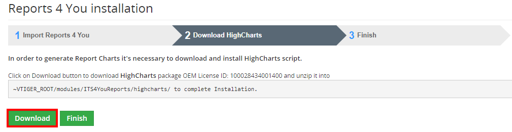 ITS4YOU Reports HighCharts Installation