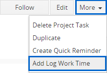 You have 2 options how to create work log: